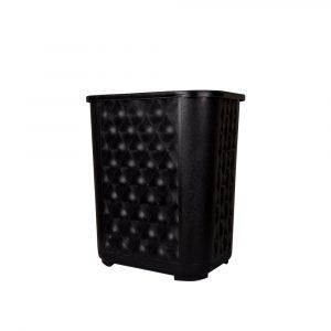 cesto rectangular negro